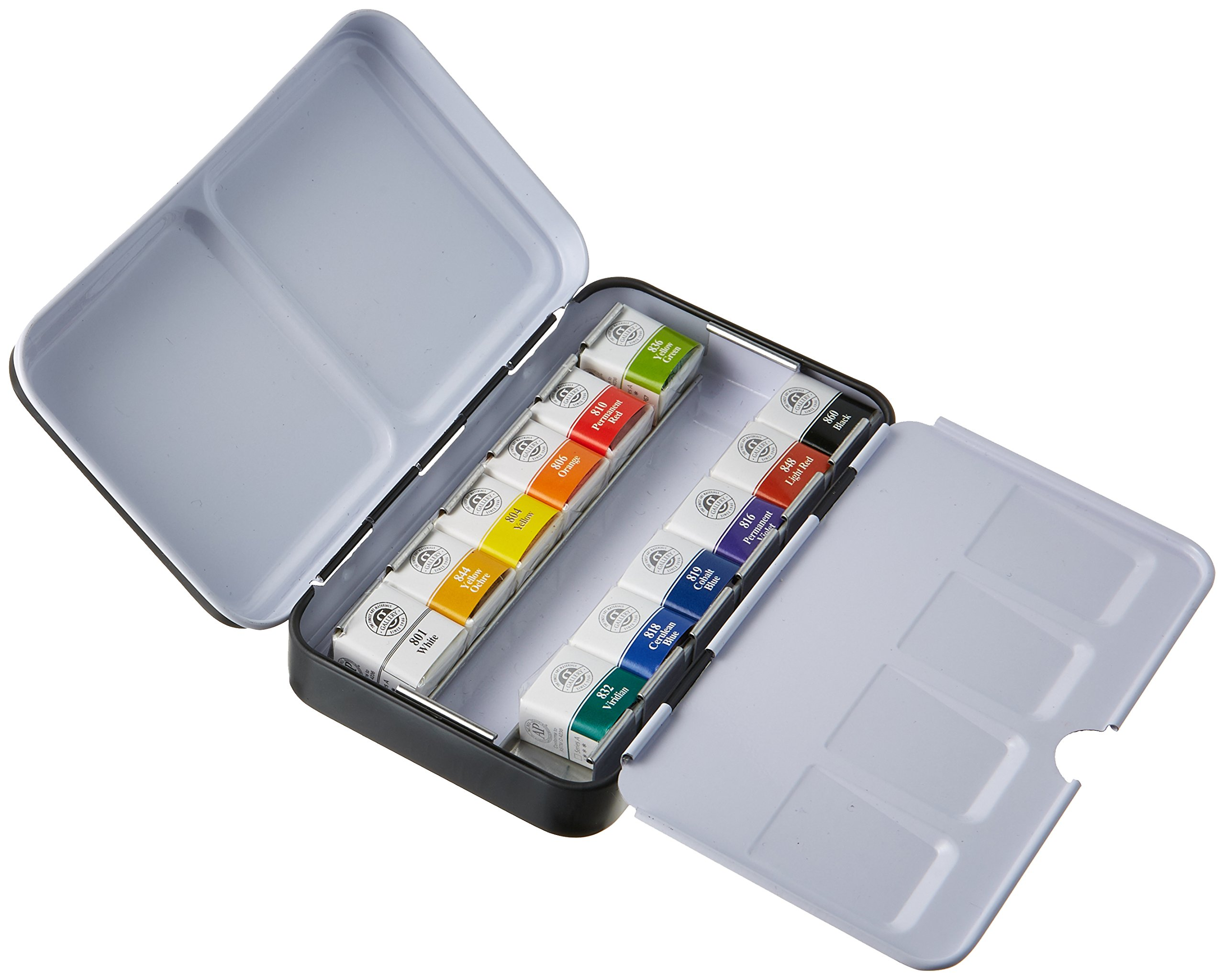 Sargent Art 32-6012 Artist Quality 12ct Professional Watercolor Set, Tin Case by Sargent Art