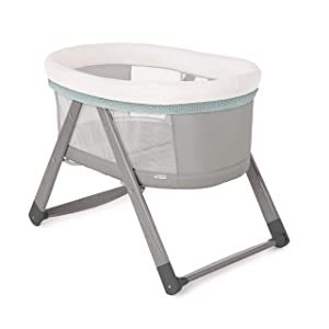 Ingenuity Foldaway Rocking Wood Bassinet - Wallace - Portable Folding Rocking Bassinet.