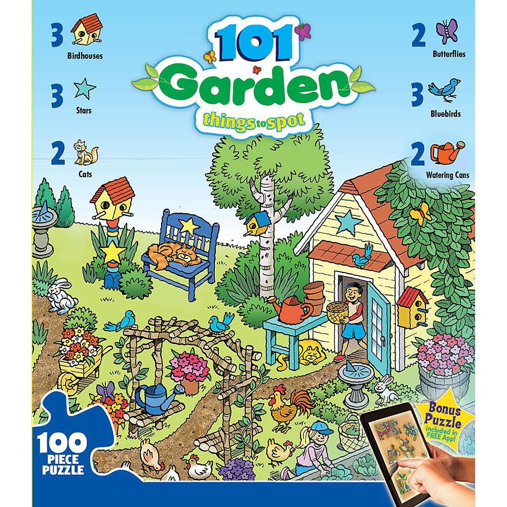 101 Things to Spot in the Garden 100 piece Puzzle by MasterPieces
