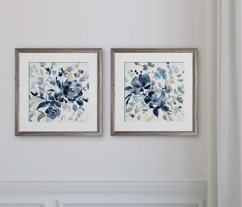 WEXFORD HOME Indigo Garden I-2 Piece Set Art Print, 16X16