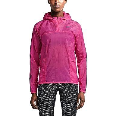 400b6404a6a Nike Women s transparente chaqueta para correr tejida