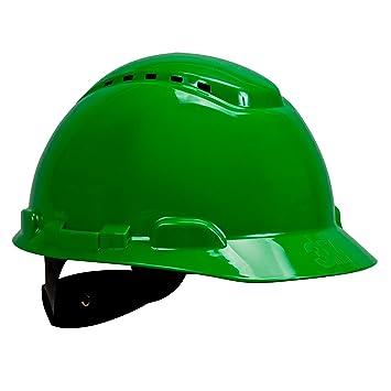 3M H700CGP - H700 Casco con ventilación, verde, arnés estándar