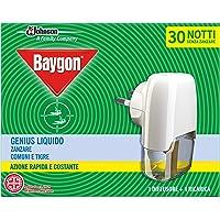 Baygon Insecticide/diffuser, elektrisch, vloeibaar, navulverpakking voor muggen, tijger 30 nachten Genius, 2-in-1