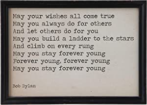 "Creative Co-Op ""May Your Wishes…"" Wood Framed Wall Décor"