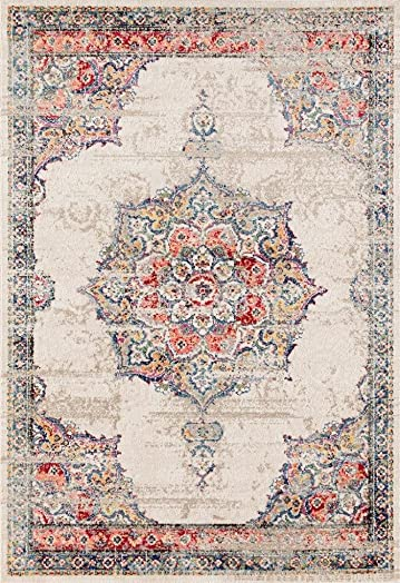 Luxe Weavers Nuvola Oriental Ivory 8×10 Area Rug
