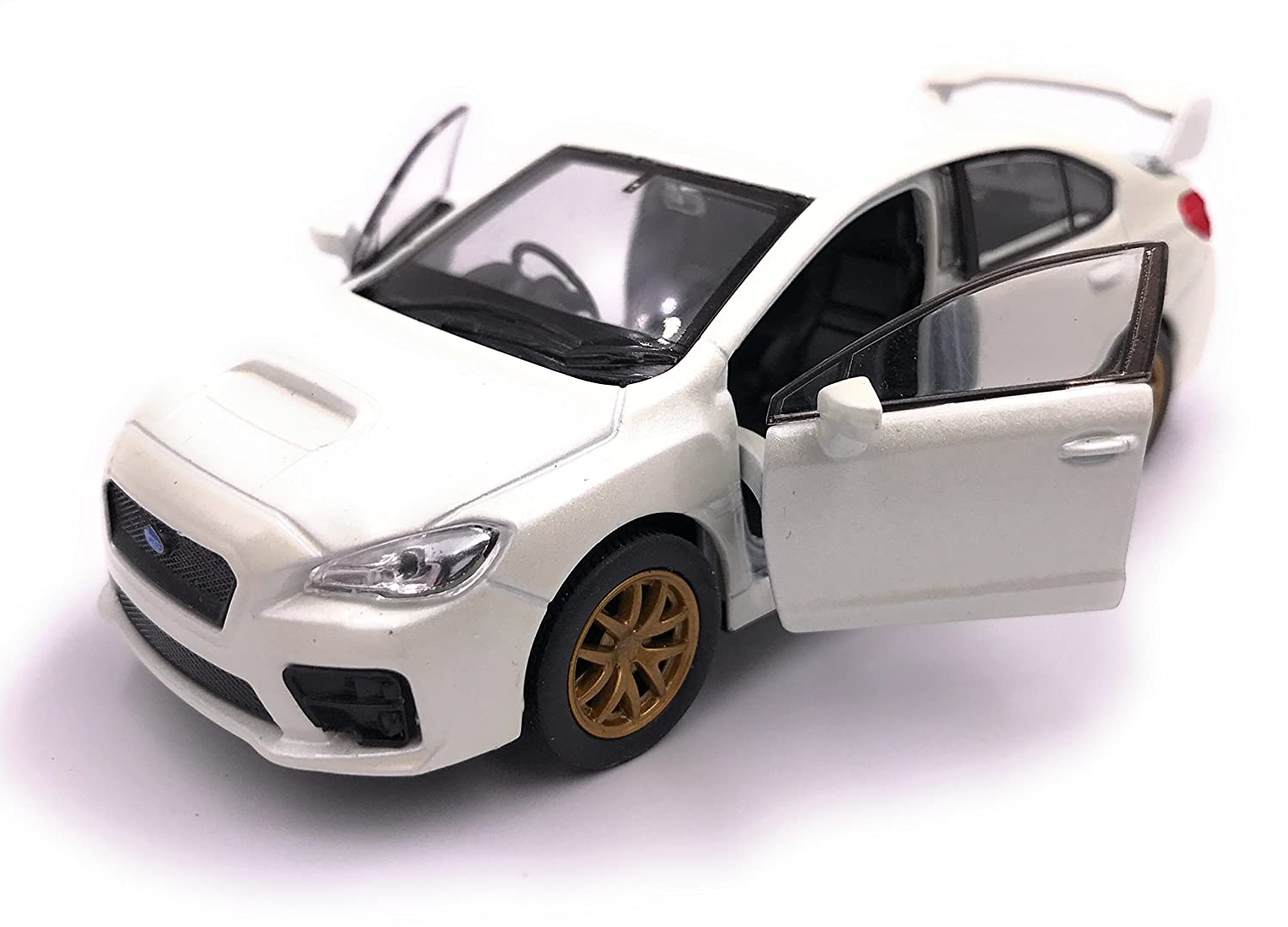 H-Customs Welly Subaru WRX STI Model Car License Producto Escala 1:34 Color Aleatorio