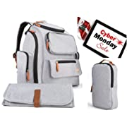 Multi-Function Backpack Diaper Bag Organizer   Large Capacity   Nice Stylish Designed Cute Baby Bag with Stroller Straps   12 Pockets, Infant Changing Pad & Sundry Bag for Travel & Outdoors