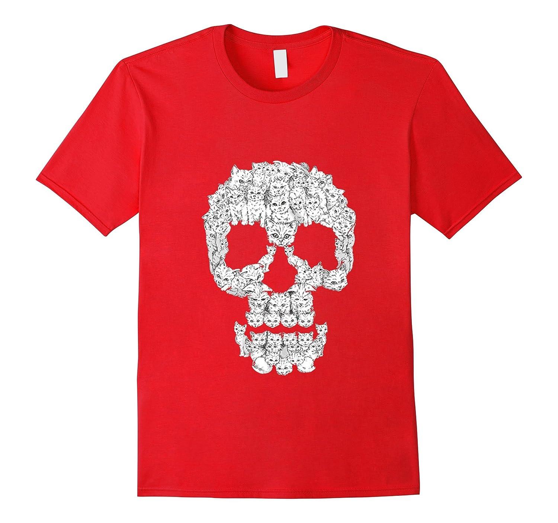 Kitten Skull - Skulls Are For Pussies T-Shirt-CL