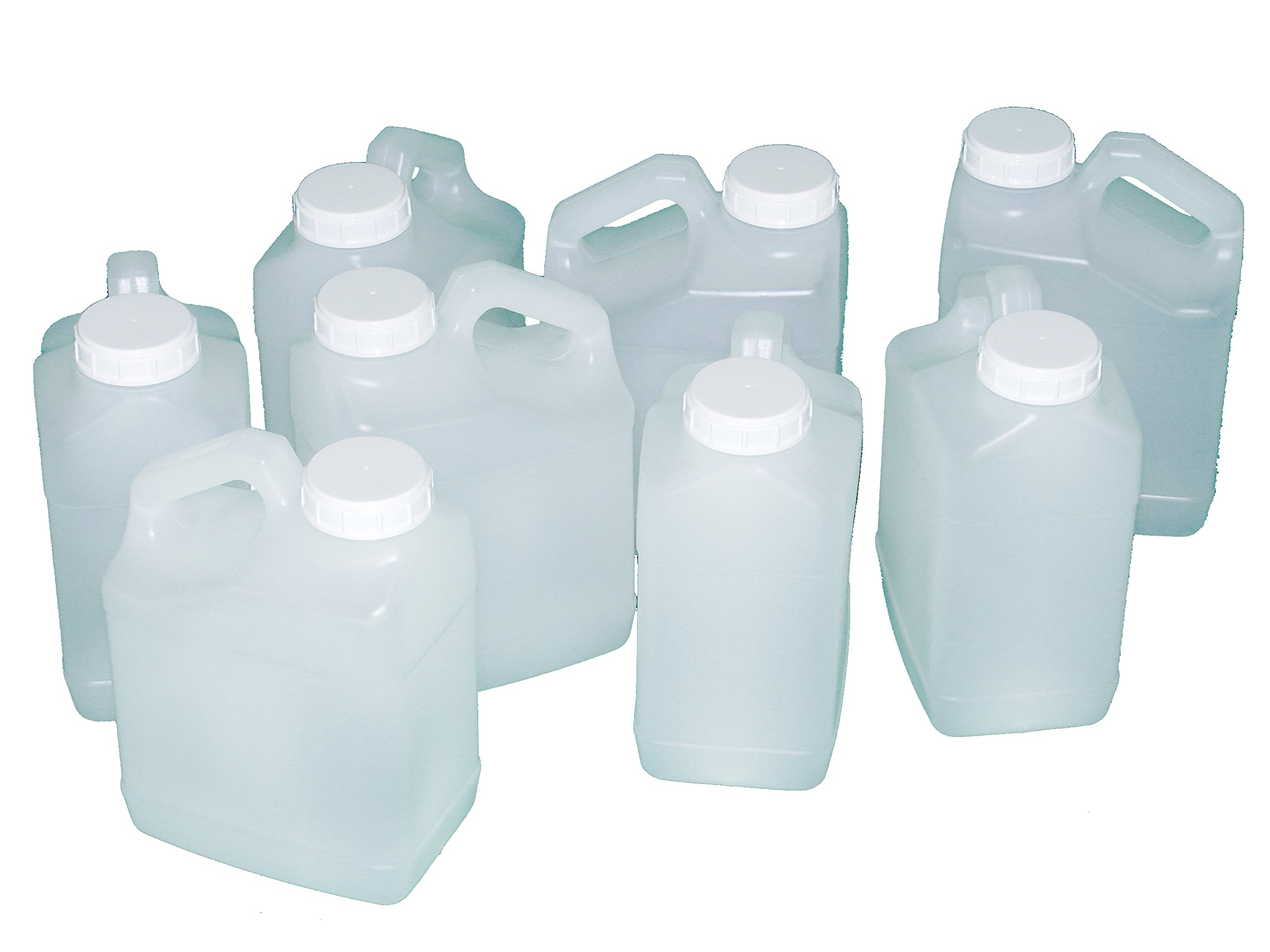 Jug, 1 Gallon, Wide Mouth, F-Style, plastic, natural color, Pack of 8 by Priority Plastics