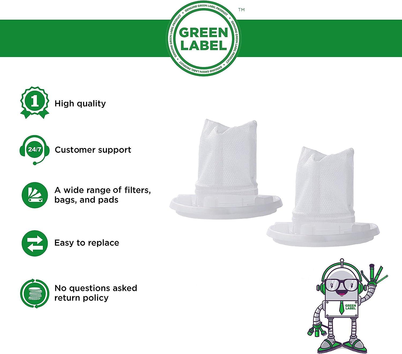 Green Label Empaque de 2 Filtro Reemplazo Filtro VF110 para los Aspiradores de Mano BLACK+DECKER Dustbuster