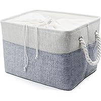 Collapsible Linen Storage Bins, Magazine Storage Basket, Portable Shelf Storage Box, Closet/Wardrobe/Attic Organizer Container