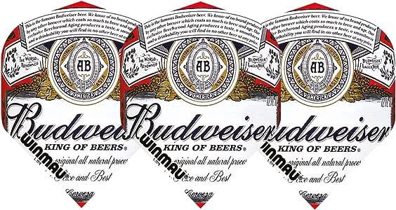 Winmau Official Budweiser Standard Shape Dart Flights King Of Beers