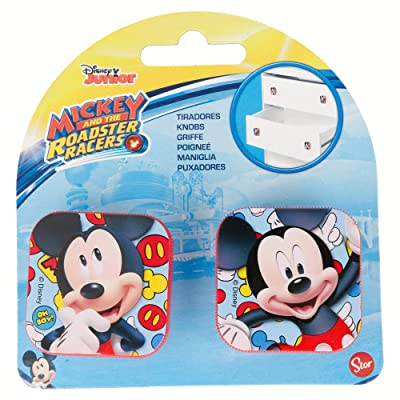 Mickey Mouse- Set 2 Tiradores Cuadrados Plástico, (STOR ST-14812): Juguetes y juegos