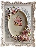 Giftgarden Cadre Photo Ovale Stlye Romantique 10x15 cm Blanc