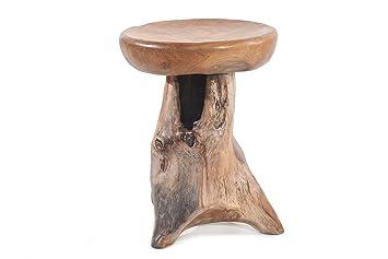 Windalf sgabello coleen h cm in legno di teak sgabello pezzo