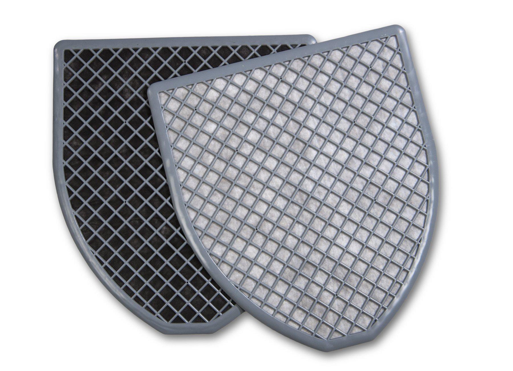ESP DRIPG Drip-Wick Universal Disposable Absorbent Urinal Floor Mat, 20'' Length x 16'' Width, Gray (Pack of 6)
