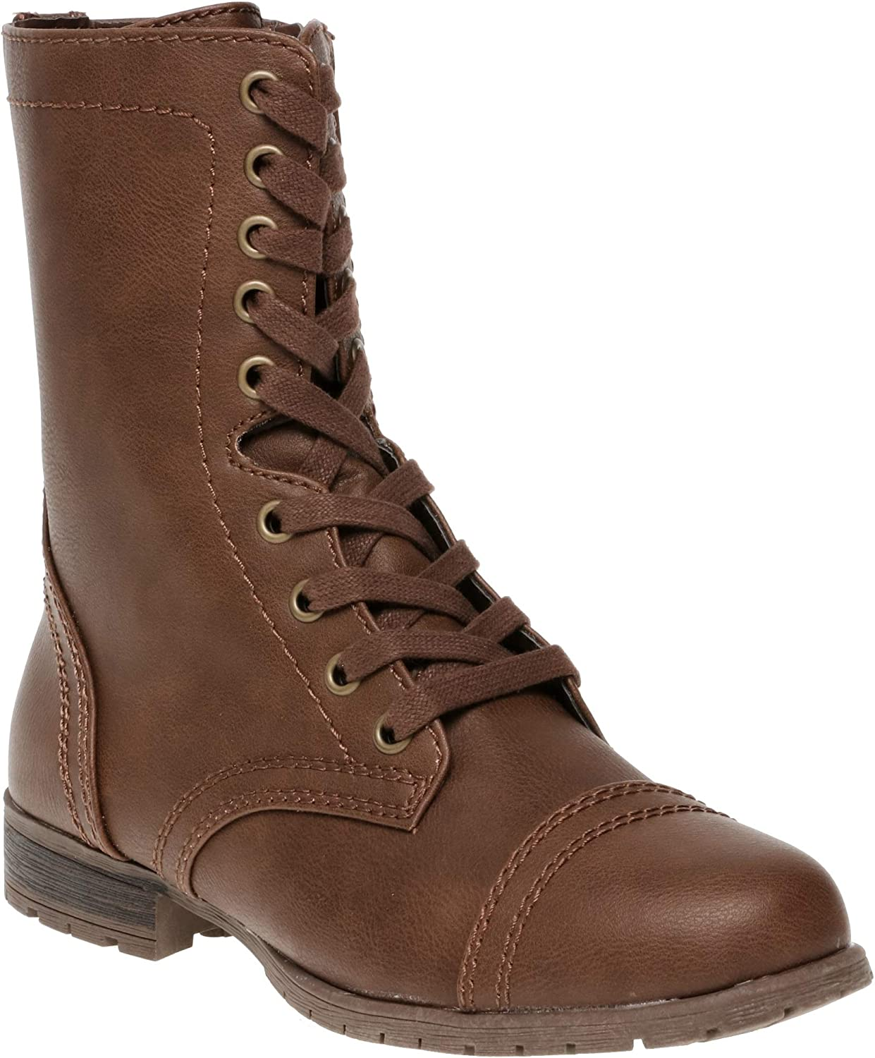 Brown Lace Combat Boots