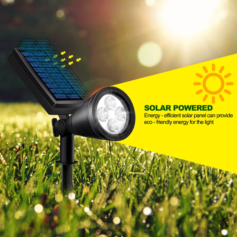 Solar Lights Outdoor, Lovin Product 2-in-1 Adjustable Solar Spotlight with 4 LED; Pir Sensor/ Auto On/Off sensor/ 2 Modes/ IP64 Waterproof/ Super Bright Wall / Landscape Lights (4 Pack) by LOVIN PRODUCT (Image #4)