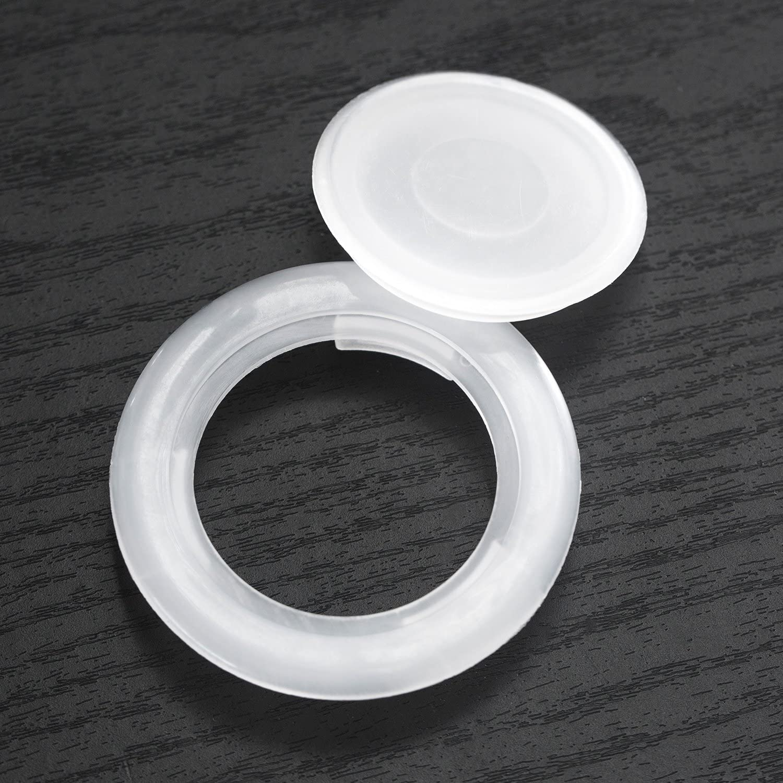 Translucent, 2 Set Bememo 2 Inch Patio Table Umbrella Hole Ring and Cap Set Standard Size Umbrella Thicker Hole Ring Plug and Cap Set