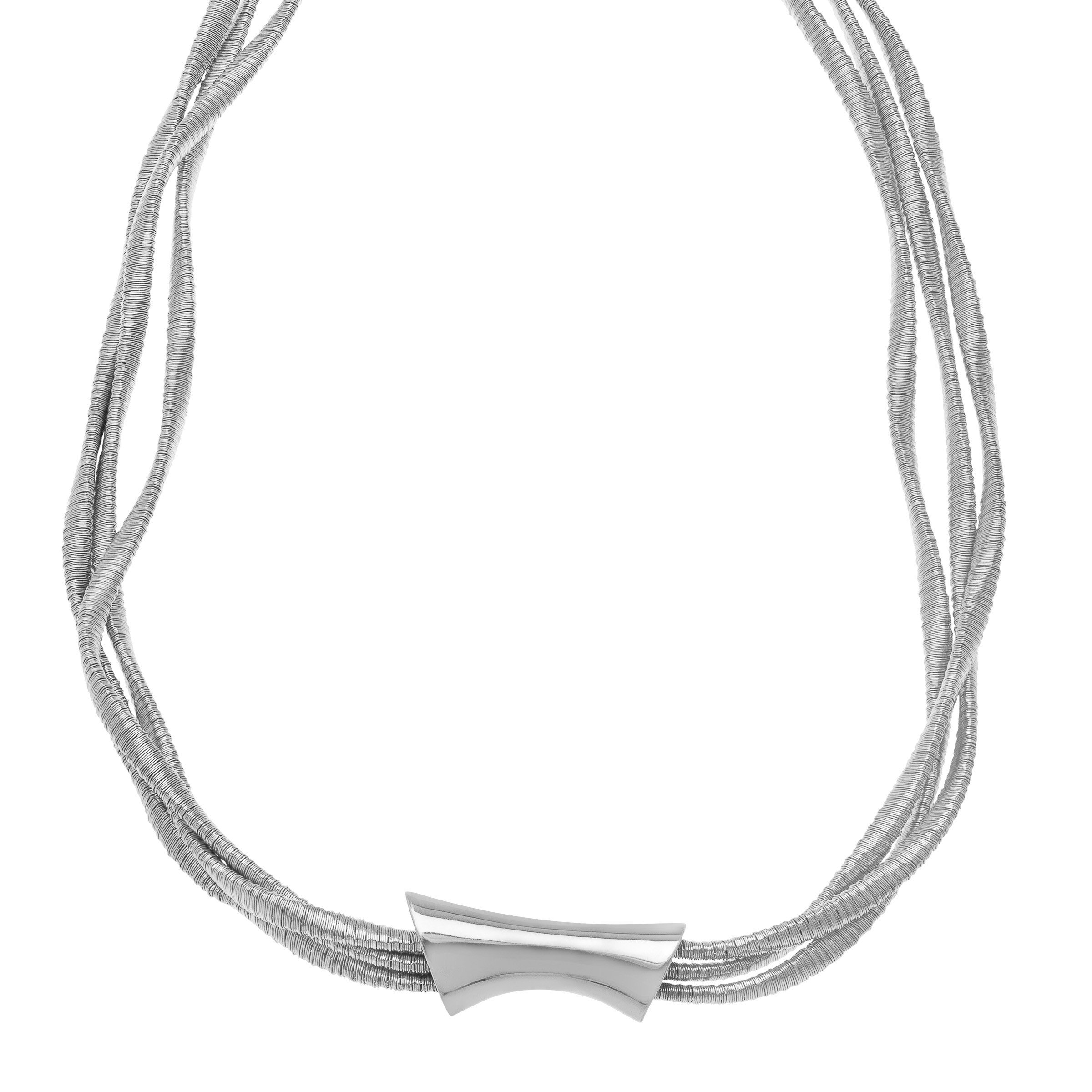 Twisted Multi-Strand Necklace in Rhodium-Plated Sterling Silver