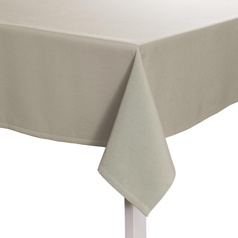 Pichler COMO_160 260_PL sportiv und pflegeleicht - Tischdecke 160 x 260 cm platin