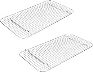 Vollrath 20228 Super Pan V Half-Size Wire Cooling Grates Racks, Set of 2 (Stainless Steel)
