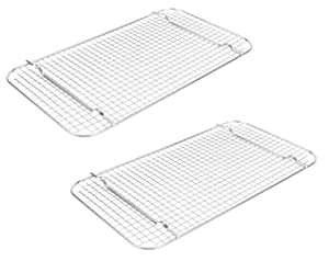 Vollrath 20028 Super Pan V Full-Size Wire Cooling Grates Racks, Set of 2 (Stainless Steel)