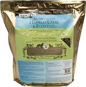 Addiction Herbed Lamb & Potatoes Grain Free Dehydrated Dog Food, 8 Lb.