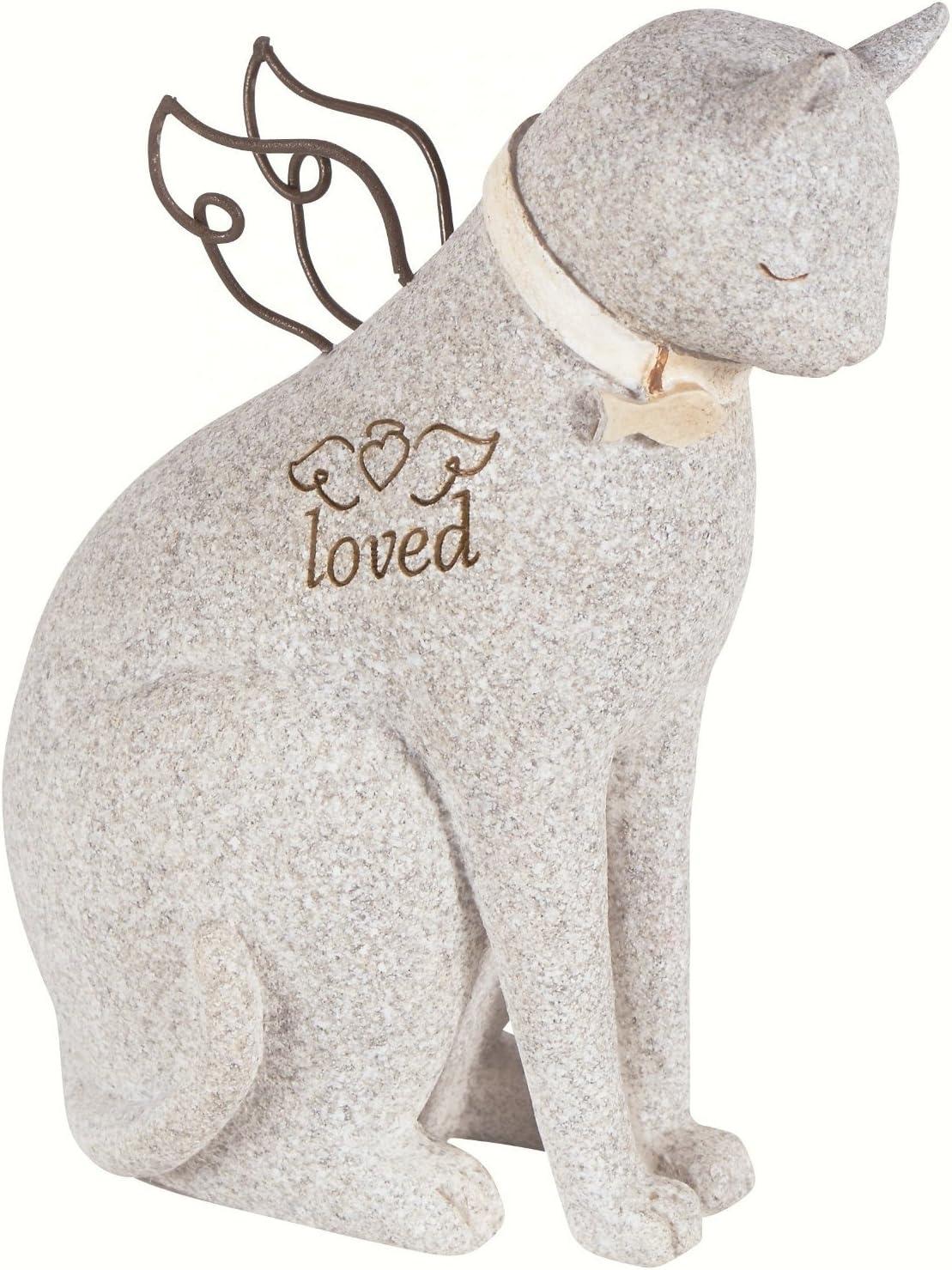 Carson Bereavement Faithful Angel by Robin Davis Cat Figurine