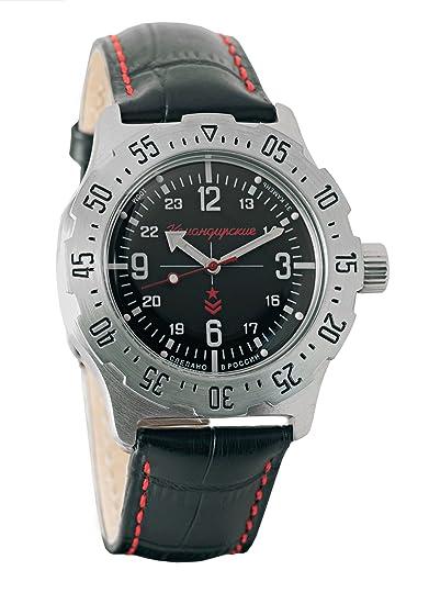 Vostok Komandirskie K-35 - Reloj de Pulsera automático Militar Ruso Auto #350515: Amazon.es: Relojes