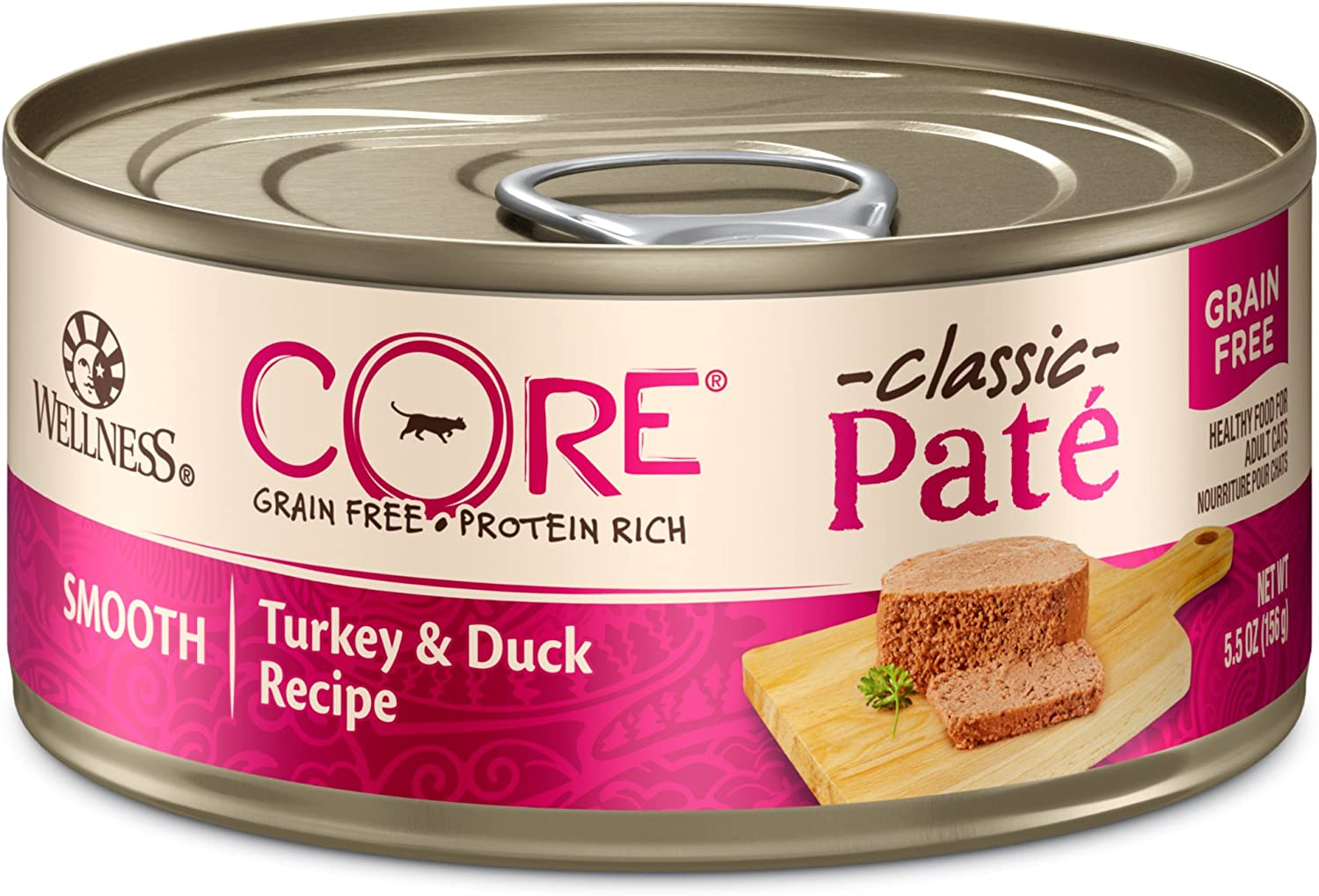 Wellness Core Natural Grain Free Wet Canned Cat Food Turkey & Duck