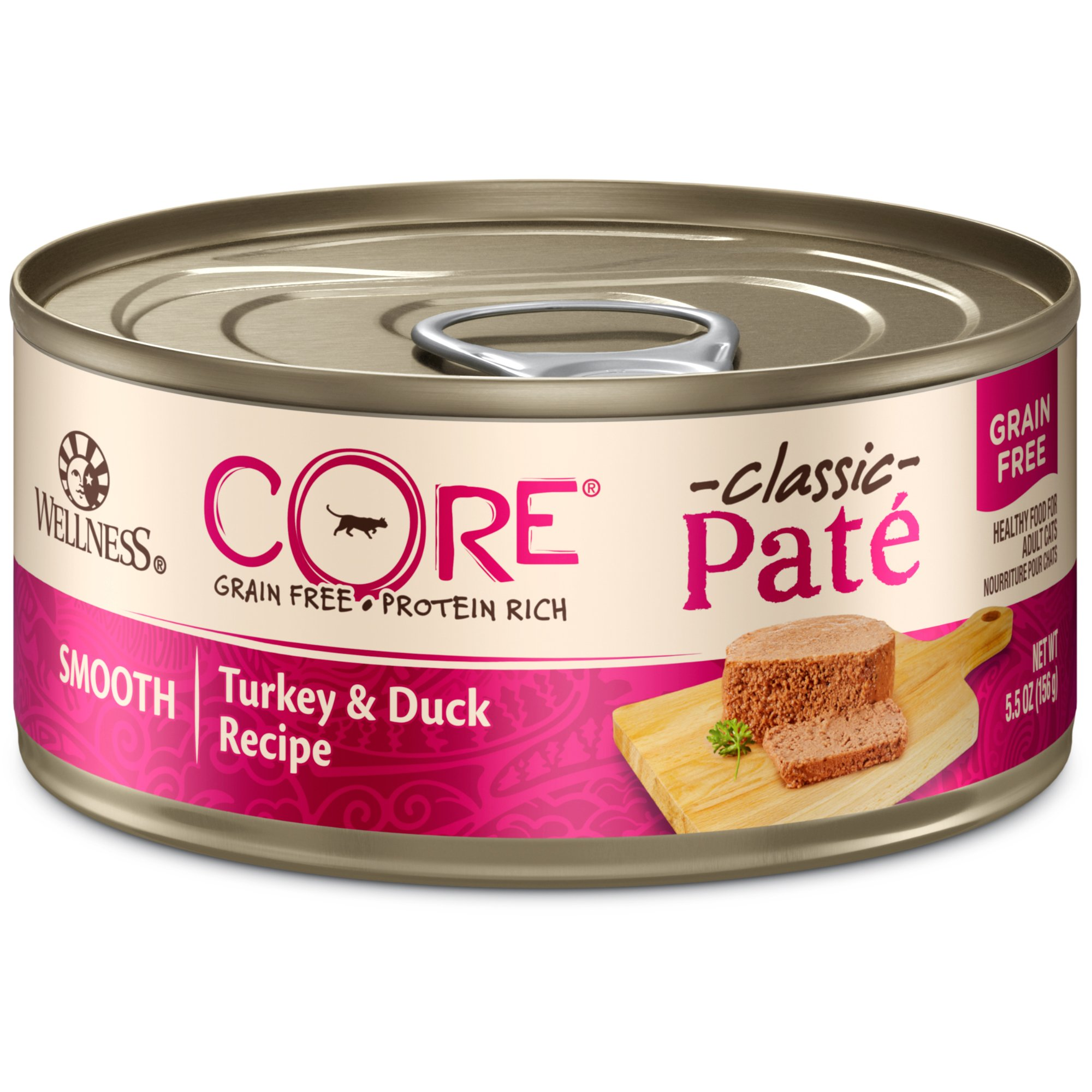 Wellness Core Natural Grain Free Wet Canned Cat Food, Turkey & Duck, 5.5-Ounce Can, Pack Of 24 by WELLNESS CORE (Image #1)