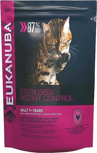 Eukanuba Adulto Esterilizado/Control de peso Rico en pollo [3 Kg]: Amazon.es: Productos para mascotas
