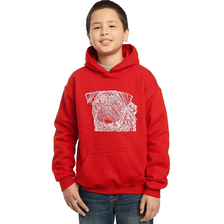 Los Angeles Pop Art Boys Hooded Sweatshirt Pug Face