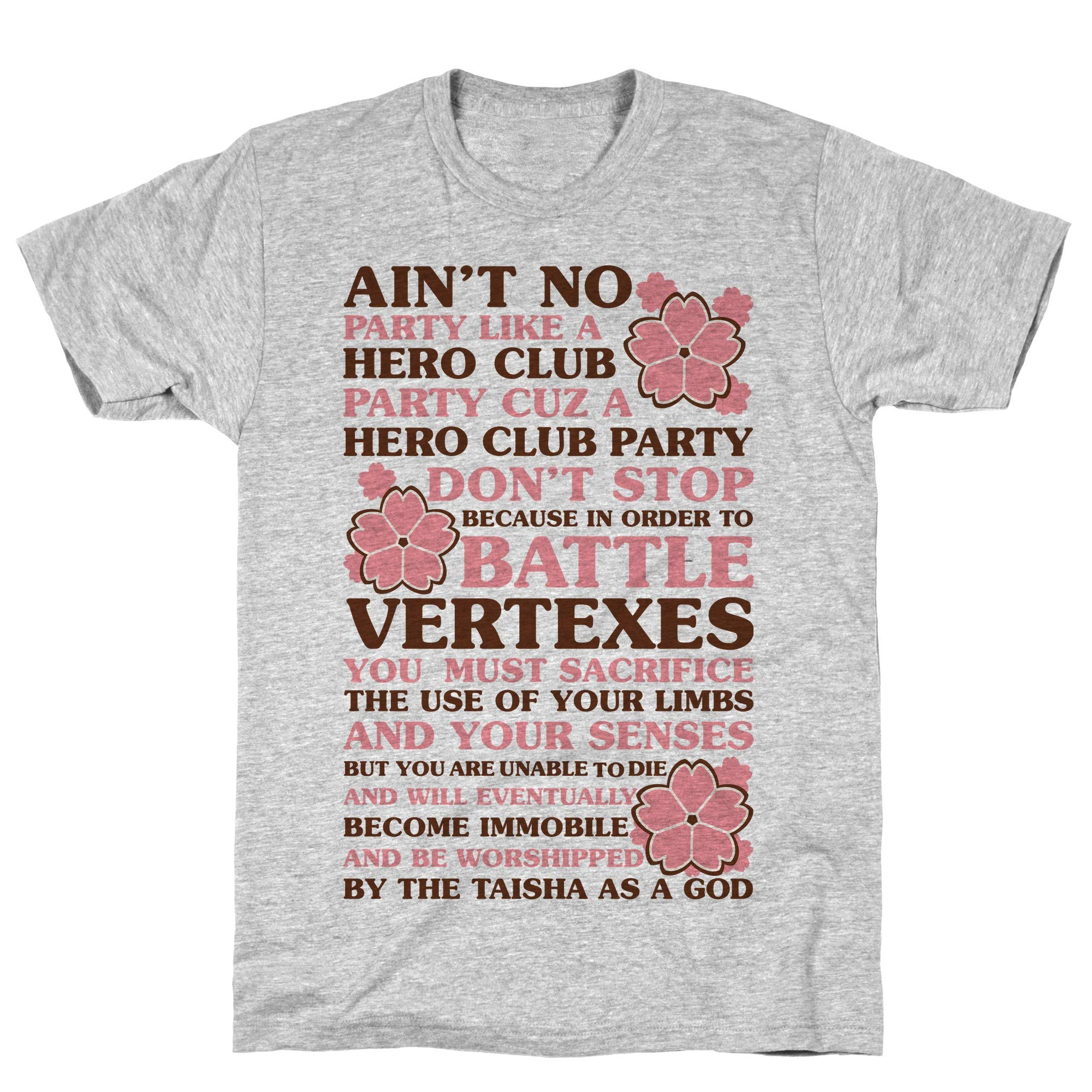Ain T No Party Like A Hero Club Party Athletic Gray S Ts Shirts