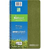 "Roaring Spring Environotes Notebook, One Subject, 9.5"" x 6"", 70 sheets, College Ruled, 20# Biobase Paper, Assorted Color"