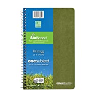 """Roaring Spring Environotes Notebook, One Subject, 9.5"""" x 6"""", 70 sheets, College Ruled, BioBase Paper, Assorted Earthtone Covers"""