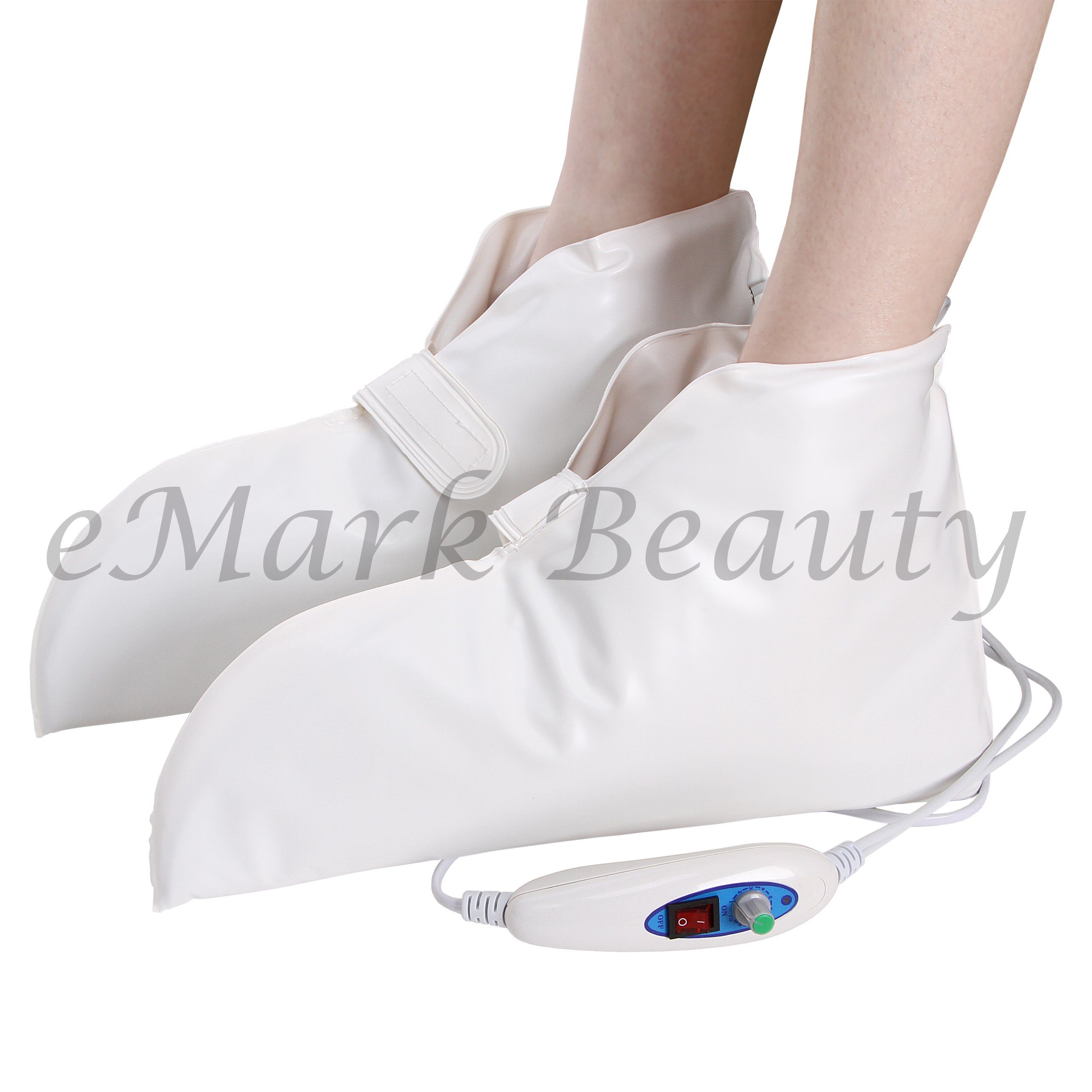 Wax Pedicure and Manicure Machine for Feet and Hands, with Heated Electrical Booties and Gloves for Continuous Hydrating Heat Therapy TLC-5009GW by eMark Beauty (Image #3)