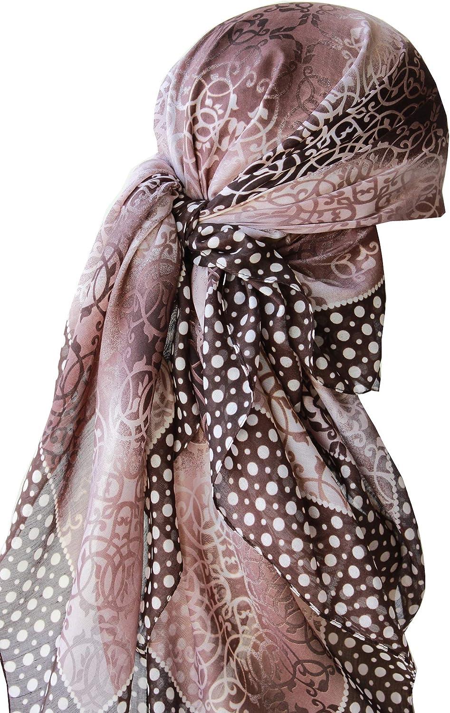 Kopftuch Quadratischer Schal Deresina Headwear Frauenalltags Weiche Quadratisch Kopftucher