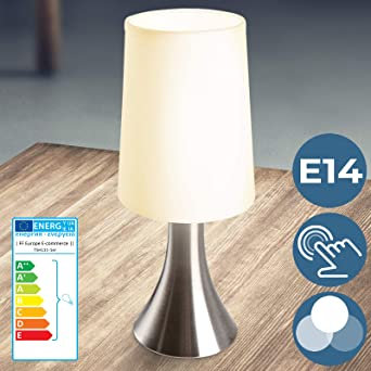 Lámparas de Mesa Táctiles 3 Intensidades de Luz - CEE: C a E, Juego de 1 o