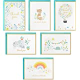 Hallmark Baby Shower Thank You Cards Assortment, Animals and Flowers (24 Cards with Envelopes for Baby Boy or Baby Girl) Elep