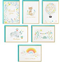 Hallmark Baby Shower Thank You Cards Assortment, Animals and Flowers (24 Cards with Envelopes for Baby Boy or Baby Girl…