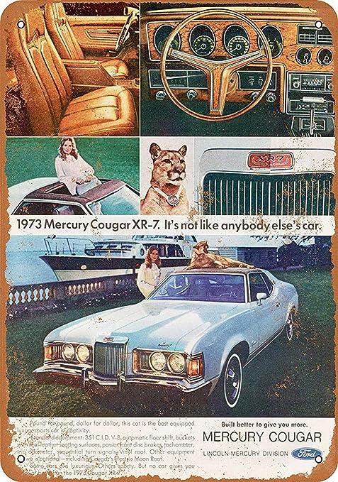 Shunry Ford Mercury Cougar Placa Cartel Vintage Estaño Signo ...
