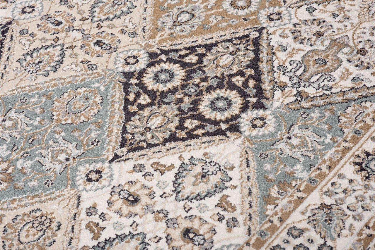 Tapiso Dubai Teppich Klassisch Gemustert Orientalisch Orientalisch Orientalisch Kurzflor in Beige mit Geometrisch Ornament Floral Mosaik Muster Ideal für Wohnzimmer ÖKOTEX 140 x 200 cm B07DJBSDVQ Teppiche ec8377