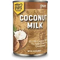 Nature's Greatest Foods, Pure Coconut Milk, No Guar Gum, Unsweetened, 13.5 Ounce (Pack of 12)