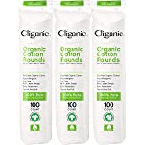 Cliganic Organic Cotton Rounds (300 Count) Makeup Remover Pads, Hypoallergenic, Lint-Free   100% Pure Cotton