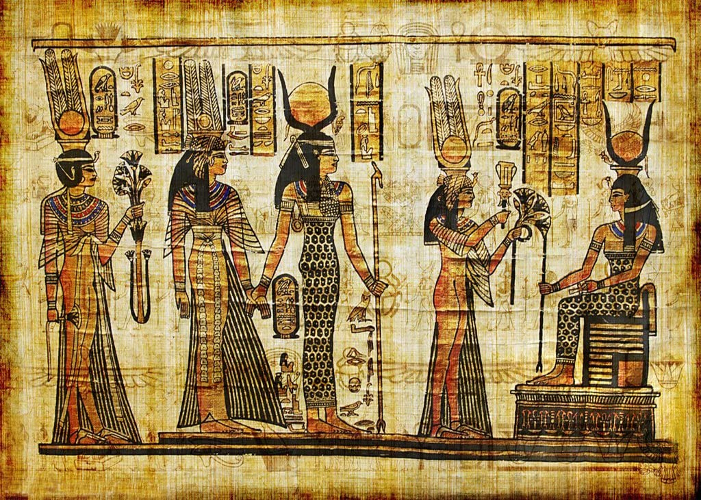 Wofawofa Vinyl 10X8FT Shabby Egypt Backdrop Old Egyptian Mural Painting Backdrops Ancient Pharaoh and Hieroglyphics Photography Background for Person Culture Historic Tourism Photo Studio Props KX693