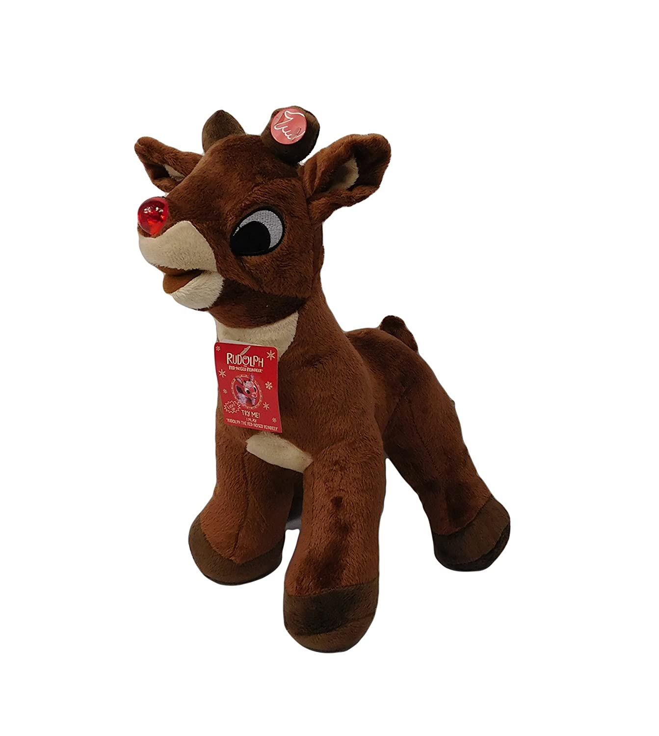2013 Rudolph the ROT Xmas Nosed Reindeer 15 Singing & Light Up Nose Xmas ROT Plush Doll NWT by Dan Dee bb73a4