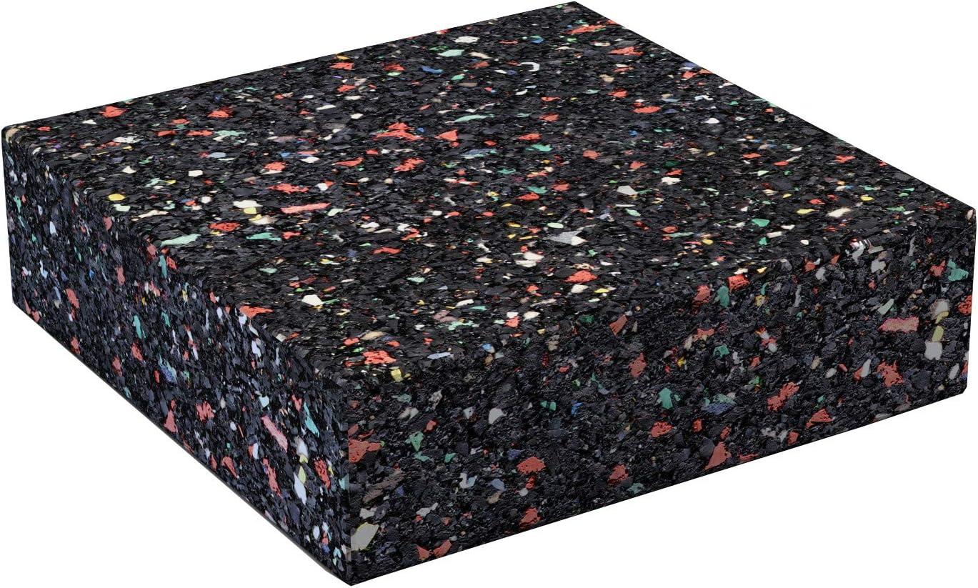 DEMMELHUBER Terrassenpads Gummigranulat auf Recyclingbasis Pad Gummipad 100 St/ück, 90 x 90 x 20 mm
