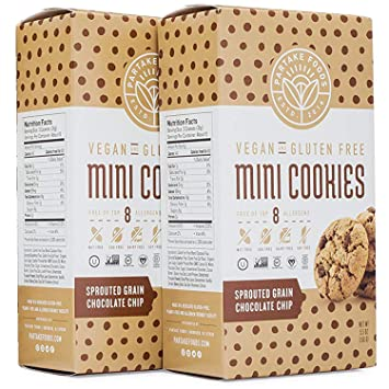 Amazon Partake Foods Crunchy Mini Cookies Chocolate Chip
